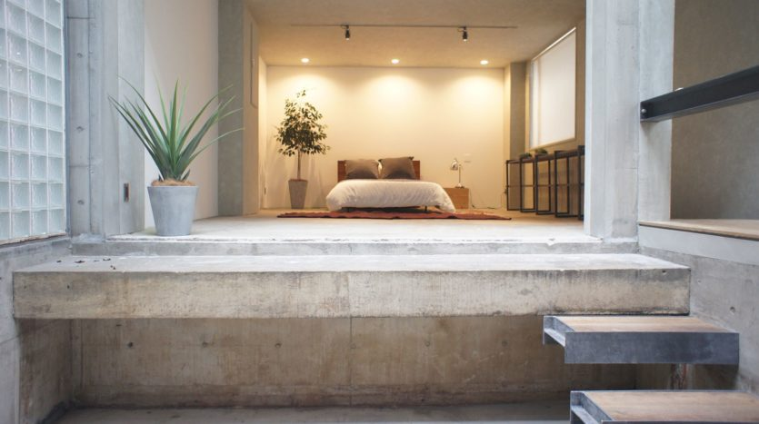 コンクリートの一軒家 ガラス天井からの光は自然光撮影におすすめ|Studio lealea